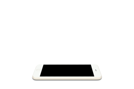 smart phone flat on a white background