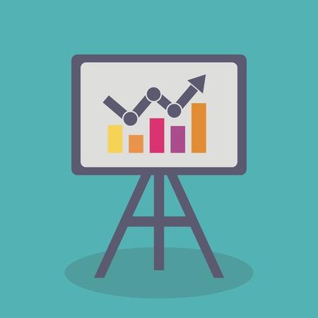 display board: Economic growth display board, design