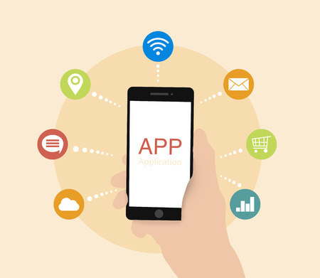 positioning: smart phone mobile applications - mail, shopping, GPS positioning, cloud computing, WiFi, big data, social networking