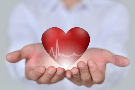 Gezondheid en medische concept van hart-en vaatziekten Stockfoto