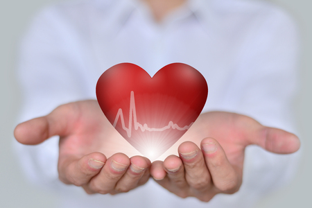 Health and medical heart disease concept