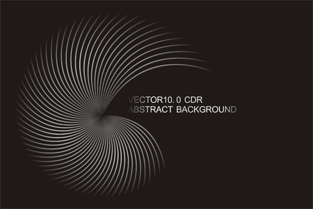 constitute: Black and white gray lines constitute spiral background , abstract background Illustration