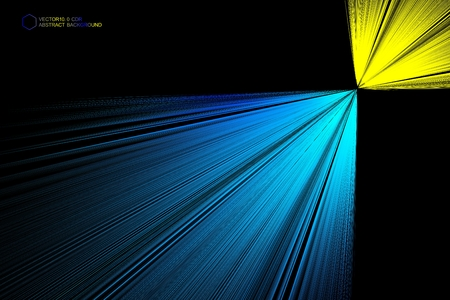Light emitting abstract background diagram
