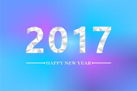 2017 font, design Illustration