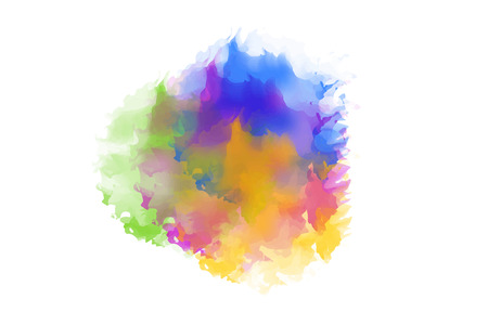 Watercolor background, colorful and colorful Abstract watercolor art painting