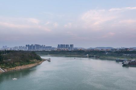 Guangxi Nanning Yongjiang river sunset