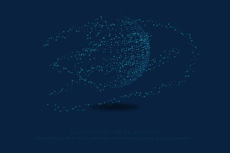 Point de la carte du monde, ligne, composition, représentant le global, connexion réseau mondial, signification internationale.