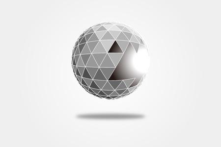 divergence: 3D polygonal crystal ball, explosive triangular fragment