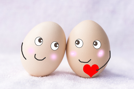 Egg with expression Stock Photo