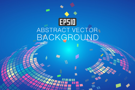 abstracted: Colorful color composition of rotating abstract background Illustration