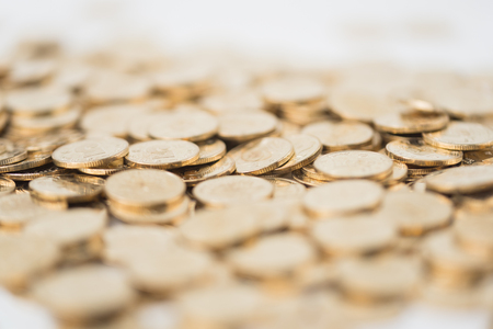 The tiled gold coins Stock Photo