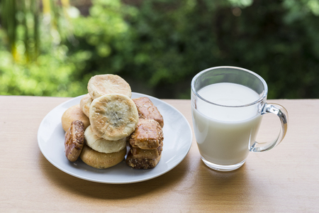 biscuits and a cup of soybean milk