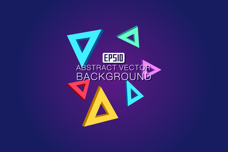 Colorful  background composed of colorful triangle Illustration