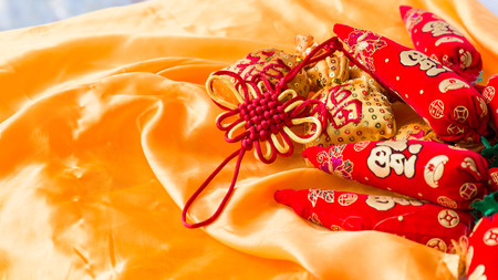 The new year knot knot with blessing bag