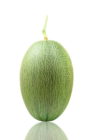 Hami melon isolated in the white background