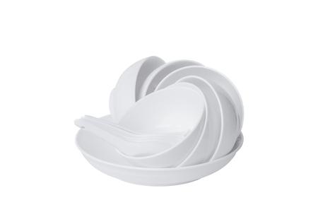 White ceramic tableware