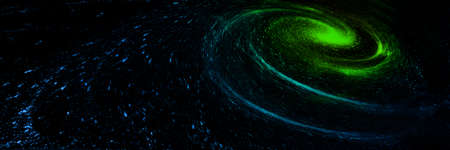 3D rendering cosmic nebula and vortex, science and technology background. 版權商用圖片