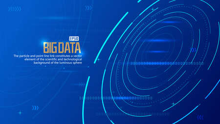Glowing rotating lines and numbers, internet technology big data background
