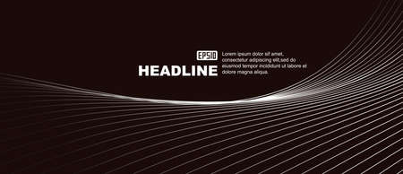Smooth black and white gray gradient lines, abstract line texture background