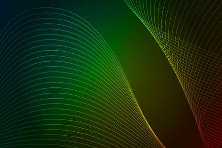 Green elegant lines, abstract background. 版權商用圖片