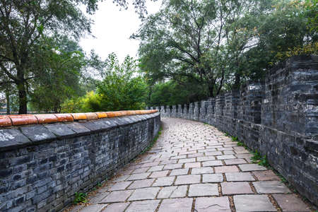 The blue brick road next to the imperial mausoleum of the Imperial Palace in Shenyang, Liaoning.