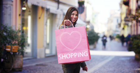 I love shopping, i am very happy with their purchases in the period balances. Concept: fashion, shopping, happiness and fashion bloggers. Stok Fotoğraf