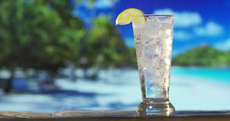 icy and refreshing cocktails are served on a beach by the sea or the pool