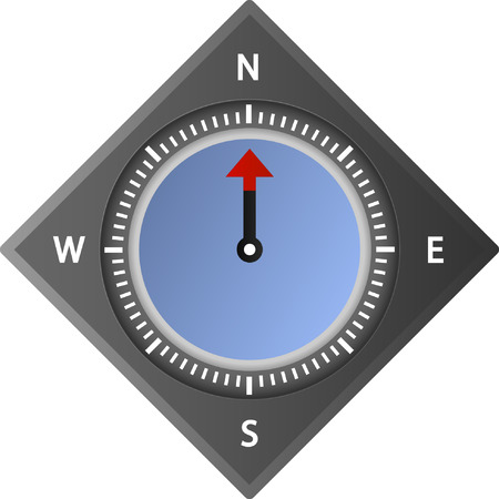 kompas vector illustratie Stock Illustratie