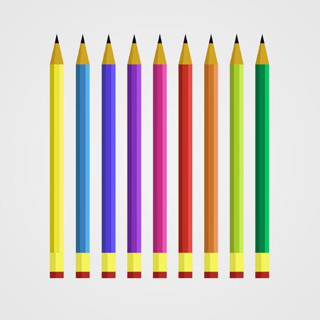pencils vector illustration Ilustrace
