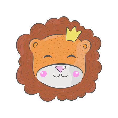 cheetah cub: Vector hand drawn illustration. Lion, childrens illustration.