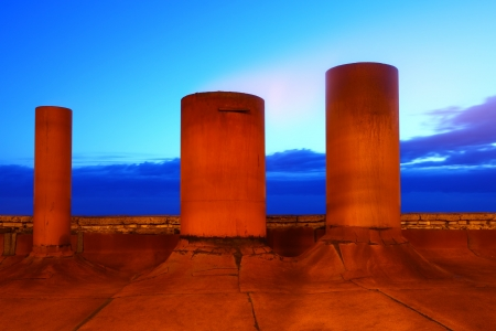 Industrial abstract landscape photo