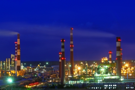 Oil refinery factory photo