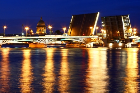 Night view of St  Petersburg photo
