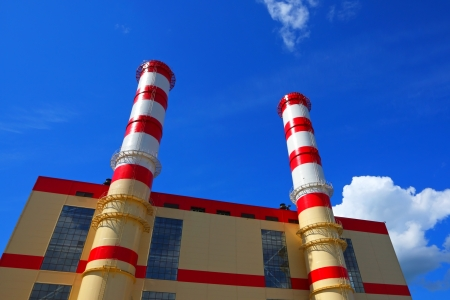 Fabrieksgebouw Stockfoto
