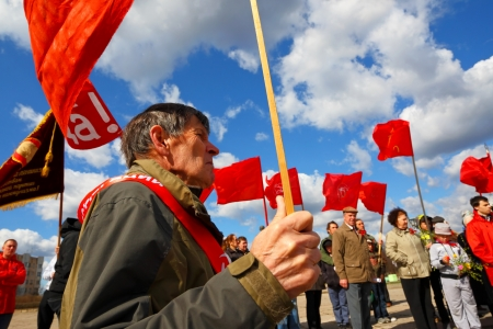 boycott: Antigovernmental meeting of party communist protest of Russian opposition Editorial