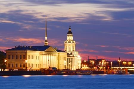 Night view of St  Petersburg