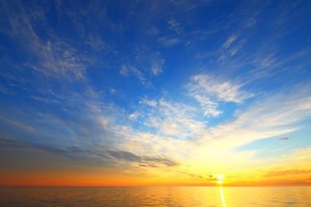 Golden sky of a decline