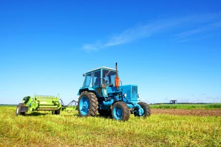 Tractor on a farmer field
