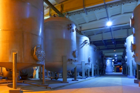Chemische fabriek Stockfoto