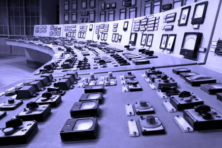 tablero de control: Panel de control industrial Foto de archivo