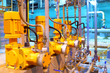 Factory  equipment Electric pumps Stock Photo
