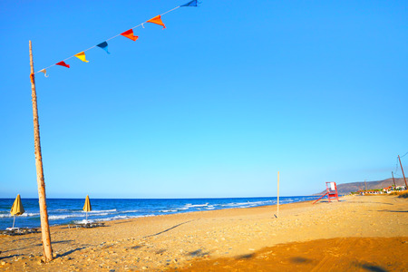 Sandy beach on the sea Stock Photo
