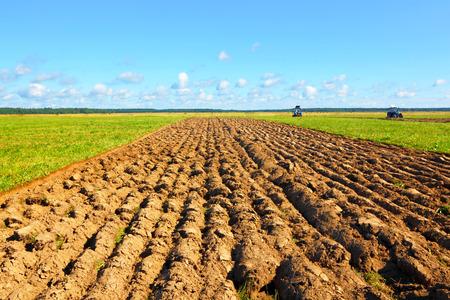 Farmer field Stock Photo