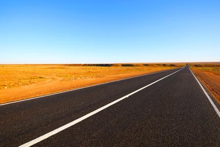 autobahn: Open road. The autobahn in the desert.