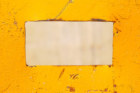 Colored yellow sheet of iron. Industrial abstract background. photo