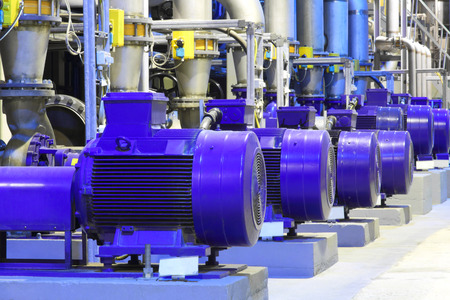 electric motor: Factory equipment.Industrial business. Electric motor.
