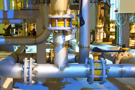 Gas pipeline.Chemical factory.The interior of the refinery.Industrial business. Stockfoto