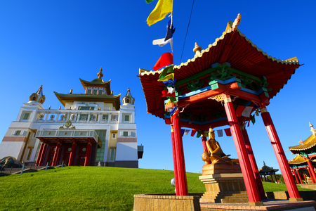 Buddhist temple.Elista.Kalmykia.Russia. Editorial