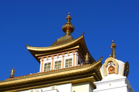 Buddhist temple.Elista.Kalmykia.Russia. Stock Photo