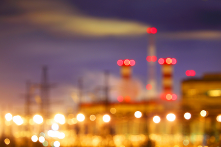 Abstract background with silhouette of industrial factory.